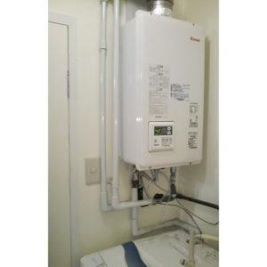 リンナイのガス給湯器RUX-V2015SFFUA-Eへ名古屋市中川区で取り替え工事