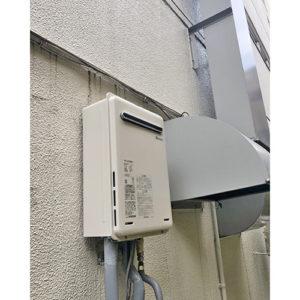 リンナイの給湯器RUX-A2406W-Eへ愛知県名古屋市中区で交換工事