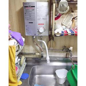 リンナイのガス給湯器RUS-V51YT(SL)へ名古屋市中村区太閤で取り替え