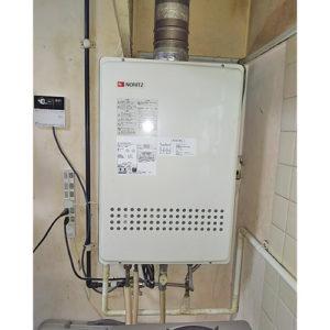 ノーリツのガス給湯器GT-1651SAWX-FFA-2 BLへ名古屋市瑞穂区浮島町で取り替え