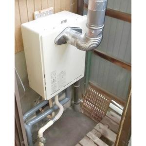 リンナイ給湯器RUF-A1615SAT-L(B)へ愛知県名古屋市中村区塩池町交換工事